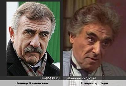 Актеры Леонид Каневский и Владимир Этуш