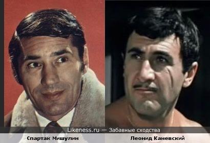 Актеры Спартак Мишулин и Леонид Каневский