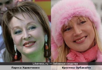 Актрисы Лариса Удовиченко и Кристина Орбакайте