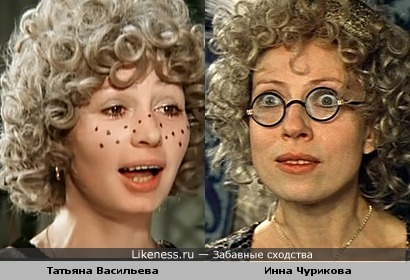 Актрисы Татьяна Васильева и Инна Чурикова