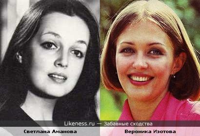Актрисы Светлана Аманова и Вероника Изотова