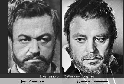 Актеры Ефим Копелян и Донатас Банионис