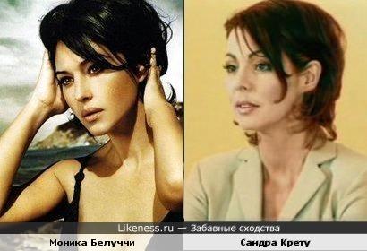 Моника Белуччи и Сандра Крету