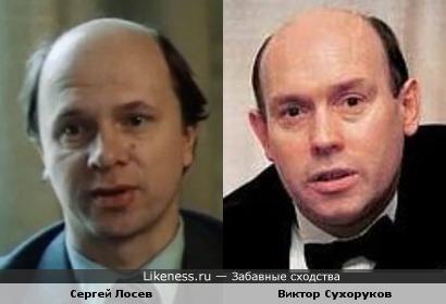 Актеры Сергей Лосев и Виктор Сухоруков похожи