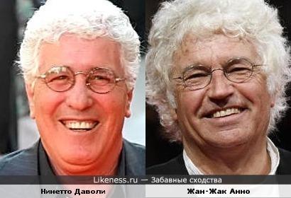 Нинетто Даволи и Жан-Жак Анно похожи