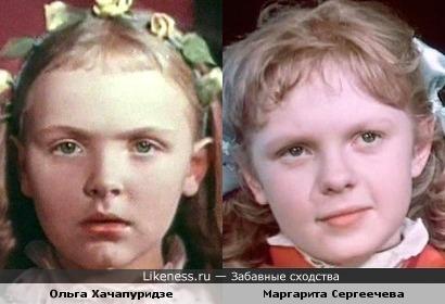 Актрисы Маргарита Сергеечева и Ольга Хачапуридзе похожи