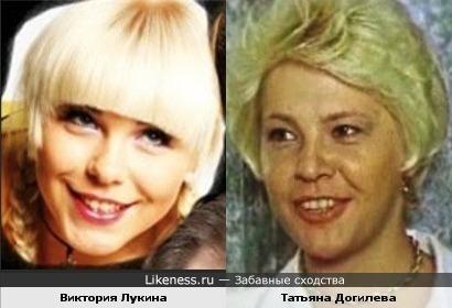 Актрисы Виктория Лукина и Татьяна Догилева