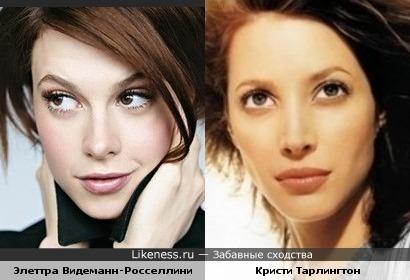Модели Элеттра Видеманн-Росселлини и Кристи Тарлингтон