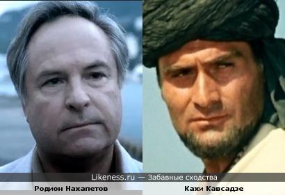 Актеры Родион Нахапетов и Кахи Кавсадзе