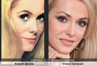Актрисы Катрин Денев и Ольга Сумская