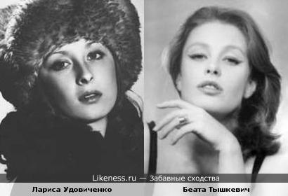 Актрисы Лариса Удовиченко и Беата Тышкевич