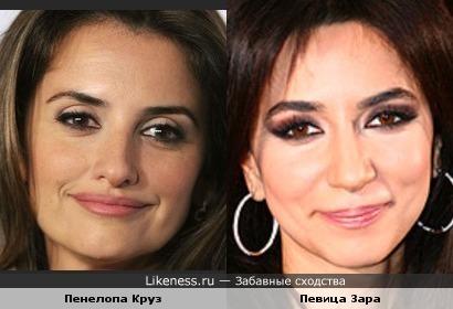 Актриса Пенелопа и певица Зара