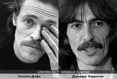 Уиллем Дефо и Джордж Харрисон