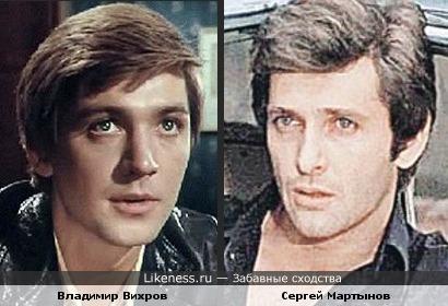 Актеры Владимир Вихров и Сергей Мартынов