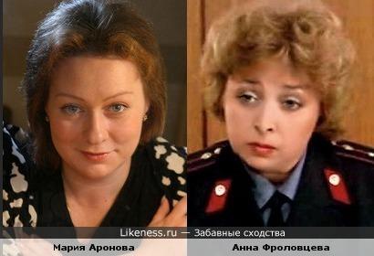Актрисы Мария Аронова и Анна Фроловцева :: Забавные сходства