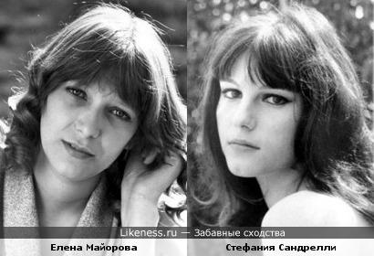 Актрисы Елена Майорова и Стефания Сандрелли