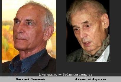 Актеры Василий Лановой и Анатолий Адоскин