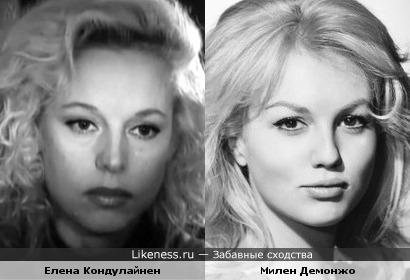 Актрисы Елена Кондулайнен и Милен Демонжо
