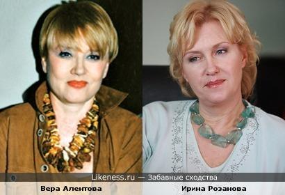 Актрисы Вера Алентова и Ирина Розанова