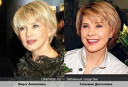 Актрисы Вера Алентова и Татьяна Догилева