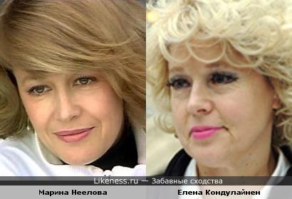 Актрисы Марина Неелова и Елена Кондулайнен