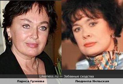 Актрисы Лариса Гузеева и Людмила Нильская