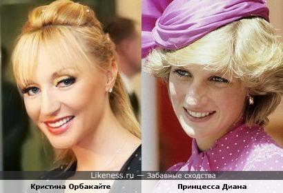Кристина Орбакайте и Принцесса Диана