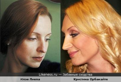 Илзе Лиепа и Кристина Орбакайте