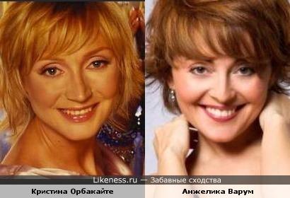 Певицы Кристина Орбакайте и Анжелика Варум