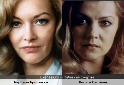 Актрисы Барбара Брыльска и Лилита Озолиня