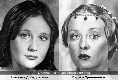 Актрисы Микаэла Дроздовская и Лариса Удовиченко