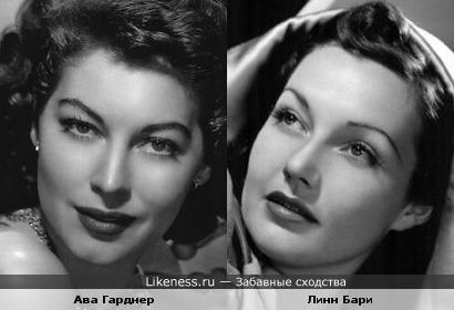 Американские актрисы Ава Гарднер и Линн Бари