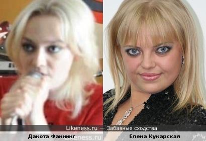 Дакота Фаннинг и Елена Кукарская
