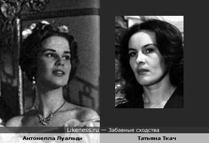 Актрисы Антонелла Луальди и Татьяна Ткач