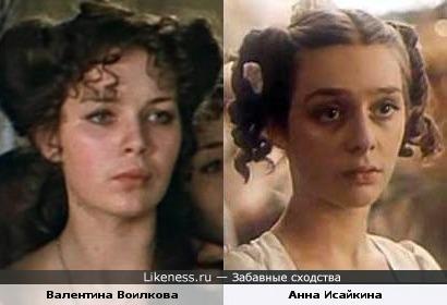 Актрисы Валентина Воилкова и Анна Исайкина