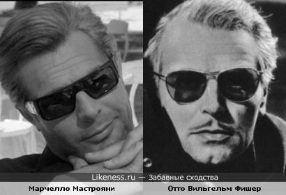 Актеры Марчелло Мастрояни и Отто Вильгельм Фишер
