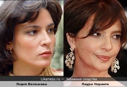 Актрисы Лидия Вележева и Лаура Моранте