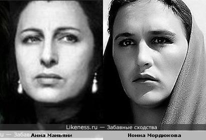 Актрисы Анна Маньяни и Нонна Мордюкова