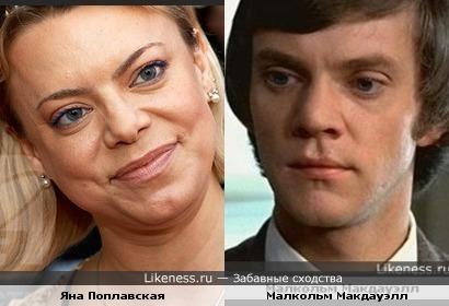 Малкольм Макдауэлл и Яна Поплавская