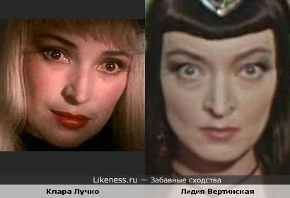 Актрисы Клара Лучко и Лидия Вертинская
