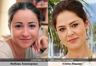 Актрисы Любовь Тихомирова и Елена Лядова