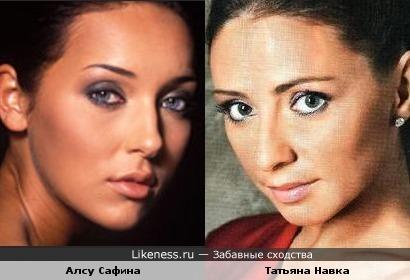 Алсу Сафина и Татьяна Навка