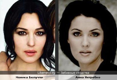 Моника Белуччи и Анна Нетребко