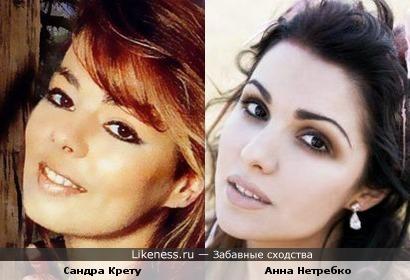 Певицы Сандра Крету и Анна Нетребко