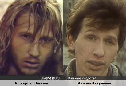 Актеры Альгирдас Латенас и Андрей Анкудинов