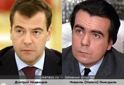Дмитрий Медведев и Мишель Лонсдаль
