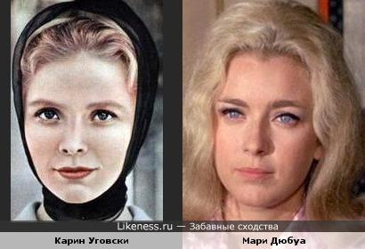 Актрисы Карин Уговски и Мари Дюбуа