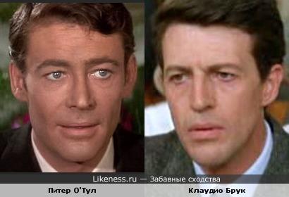Актеры Питер О'Тул и Клаудио Брук