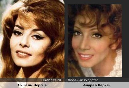 Актрисы Мишель Мерсье и Андреа Паризи