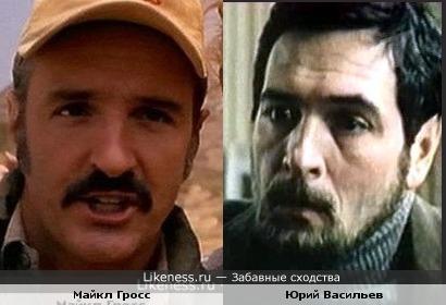 Актеры Майкл Гросс и Юрий Васильев